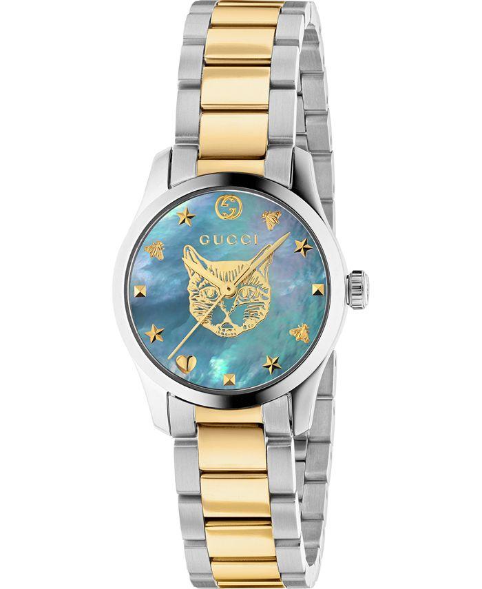 Gucci - Women's Swiss G-Timeless Two-Tone Stainless Steel Bracelet Watch 27mm