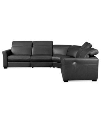 5 piece leather sectional sofa abbyson victoria 5 piece for 5 piece reclining sectional sofa