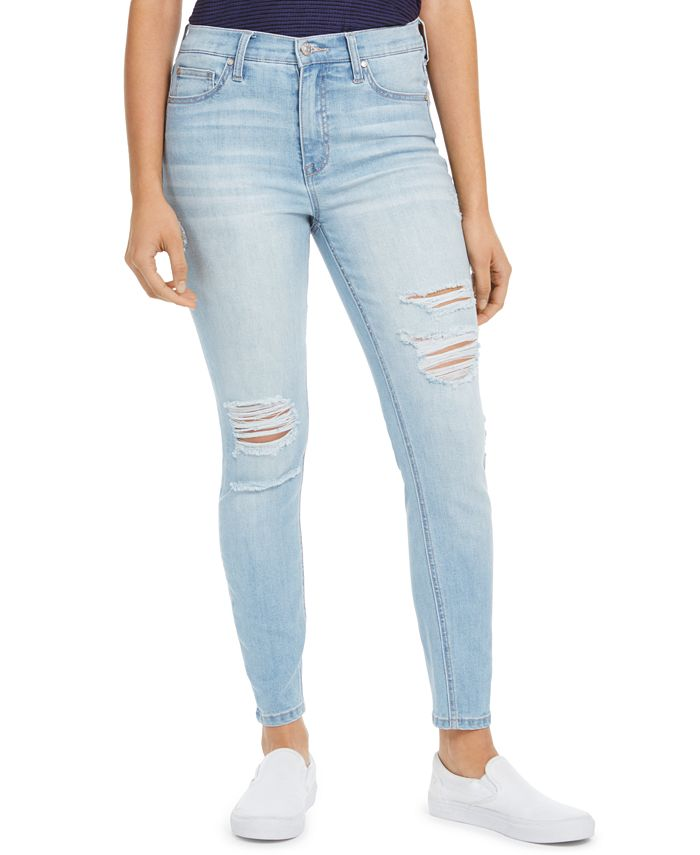 Celebrity Pink - Juniors' Ripped High-Rise Skinny Jeans