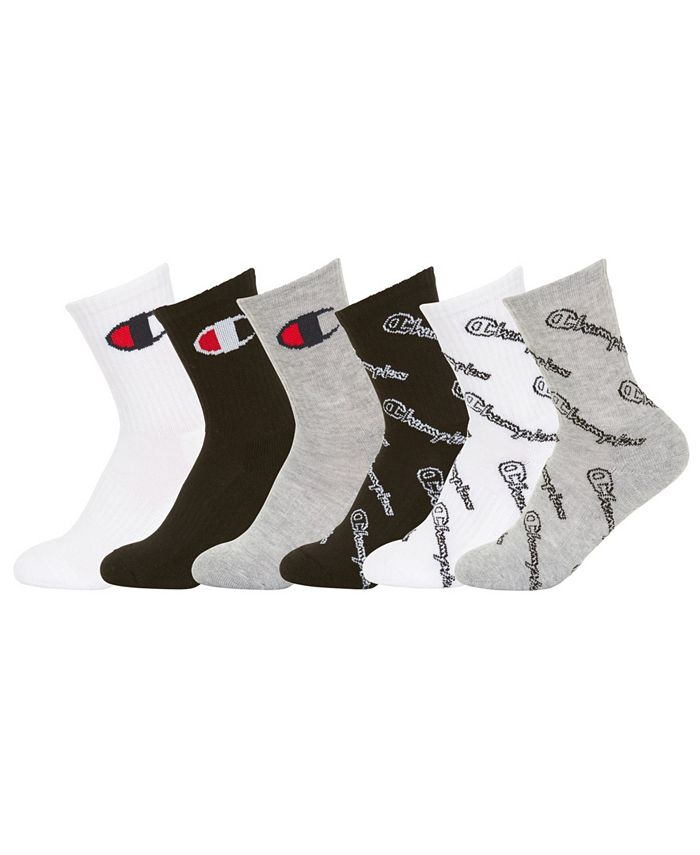 Champion - Little & Big Boys 6-Pk. Low-Cut Socks