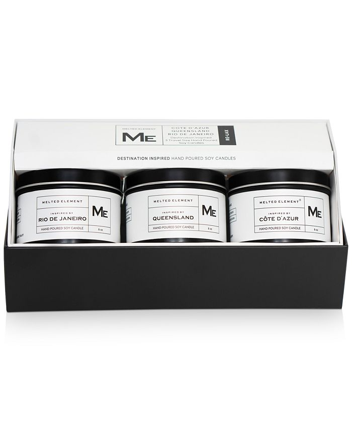 Melted Element - 3-Pc. Relax Travel Candle Gift Set