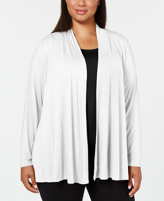 Karen Scott - Plus Size Open-Front Cardigan