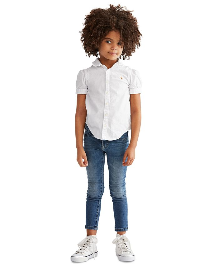 Polo Ralph Lauren - Little Girls' Solid Oxford Top