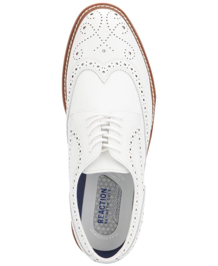 Kenneth Cole Reaction Men's Klay Flex Wingtip Oxfords & Reviews - All Men's Shoes - Men - Macy's