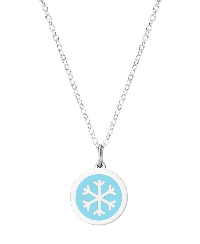 Auburn Jewelry - Mini Snowflake Necklace in Sterling Silver