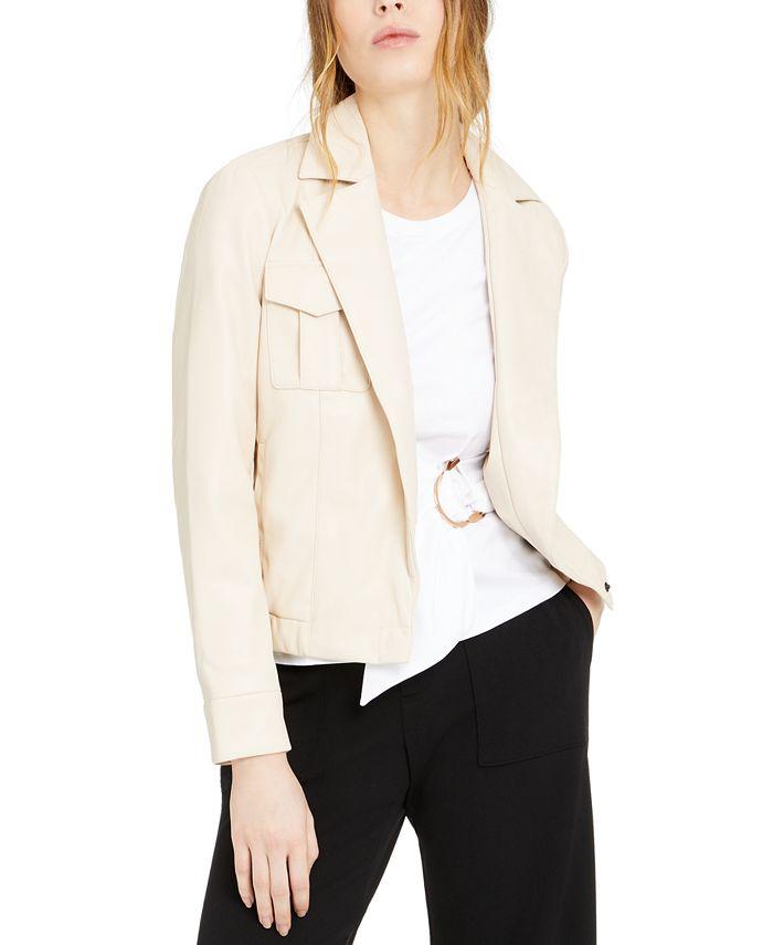 INC International Concepts - Faux-Leather Moto Jacket