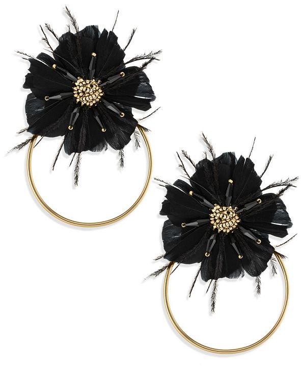 ZAXIE by Stefanie Taylor Zaxie Moody Hues Flower Hoop Earrings