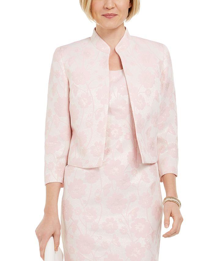 Kasper - Floral Metallic Jacquard Jacket