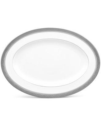 "Summit Platinum Oval Platter, 14"""