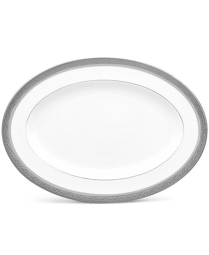 "Noritake - Summit Platinum Oval Platter, 14"""