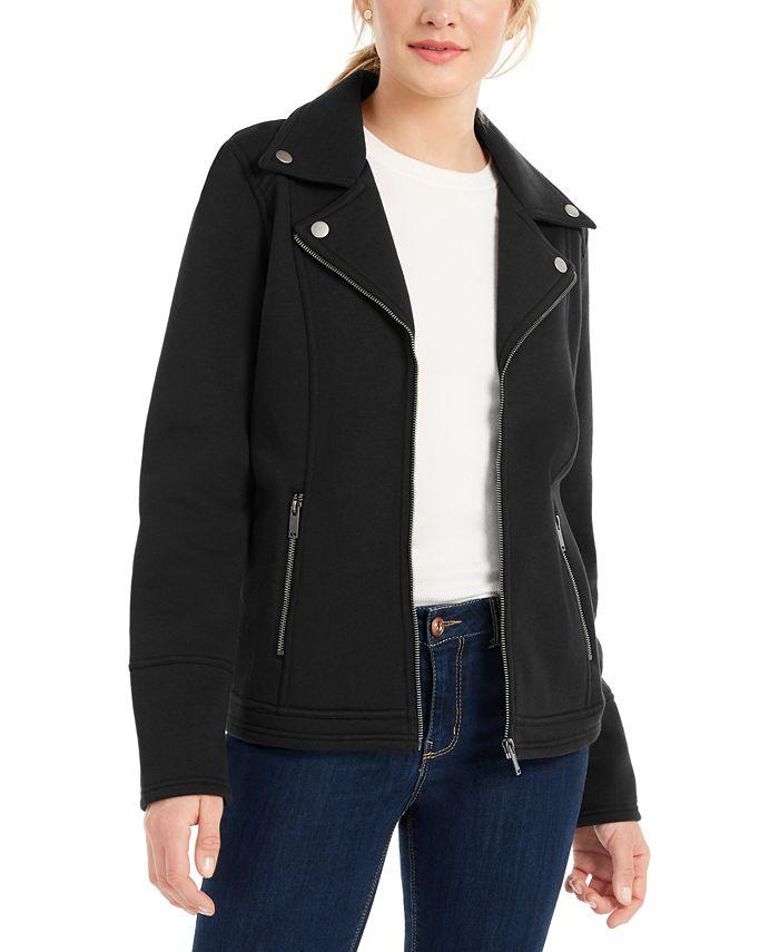 Style & Co - Knit Moto Jacket