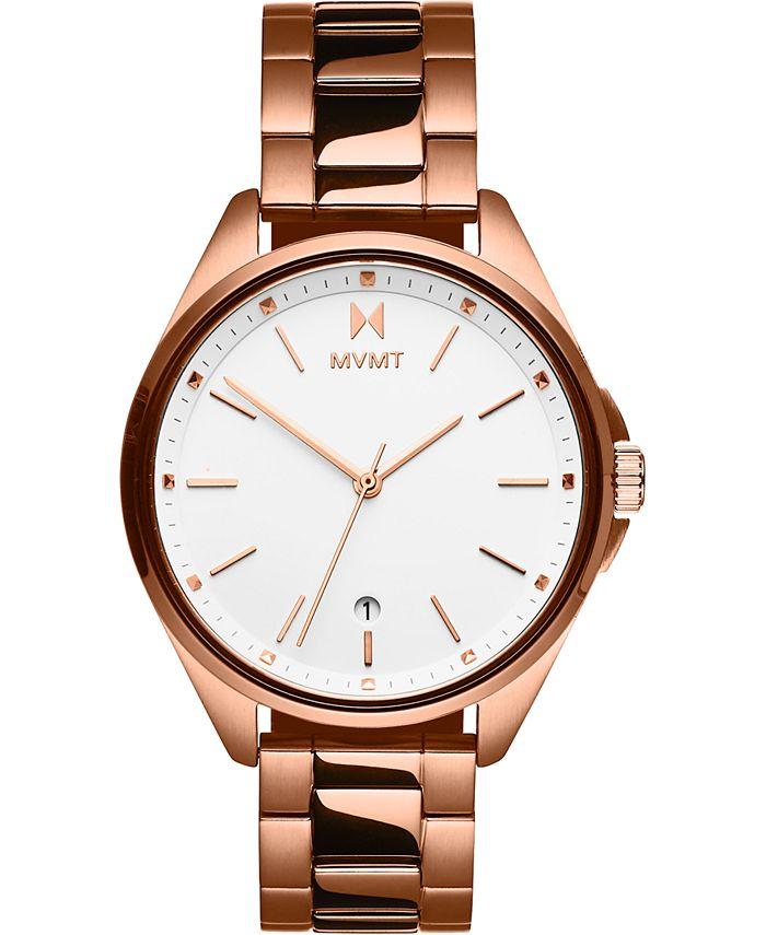 MVMT - Women's Coronada Rose Gold-Tone Stainless Steel Bracelet Watch 36mm
