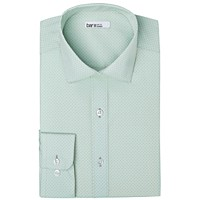 Bar III Men's Organic Cotton Slim-Fit Link-Print Dress Shirt (Mint)