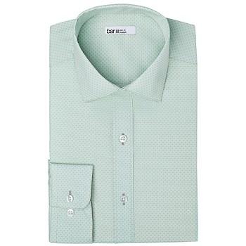 Bar III Men's Organic Cotton Slim-Fit Link-Print Dress Shirt