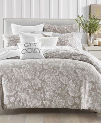 Jacobean 300-Thread Count 2-Pc. Twin Comforter Set, Created for Macy's