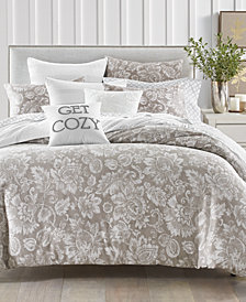 Charter Club Damask Designs Jacobean 300-Thread Count Bedding Collection, Created for Macy's