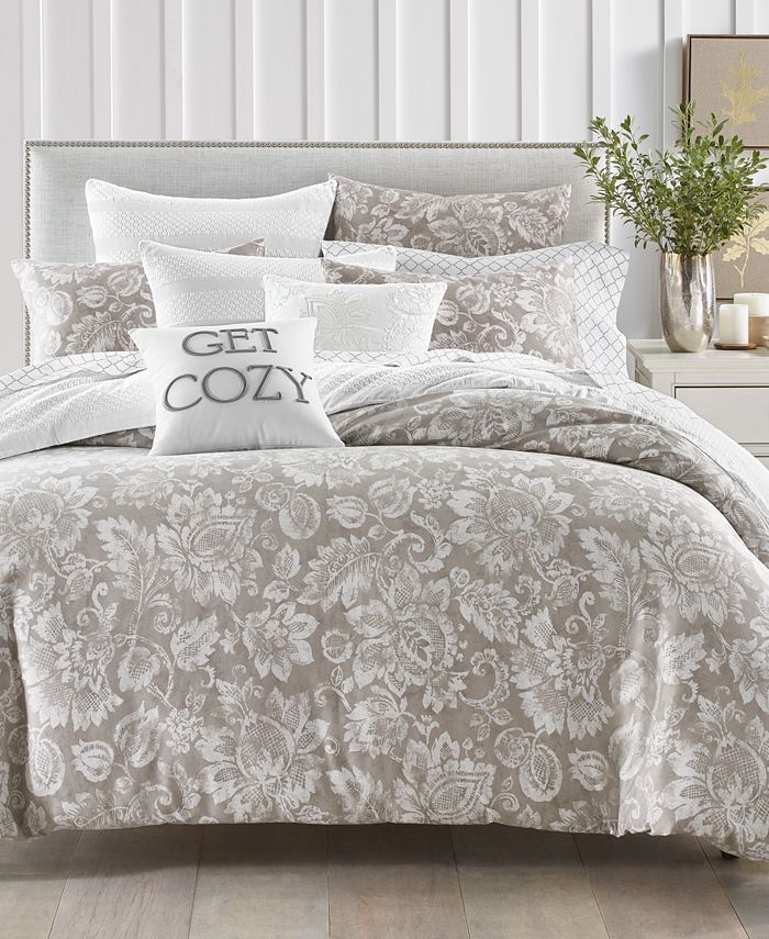 Charter Club - Damask Designs Jacobean 300-Thread Count 2-Pc. Twin Comforter Set
