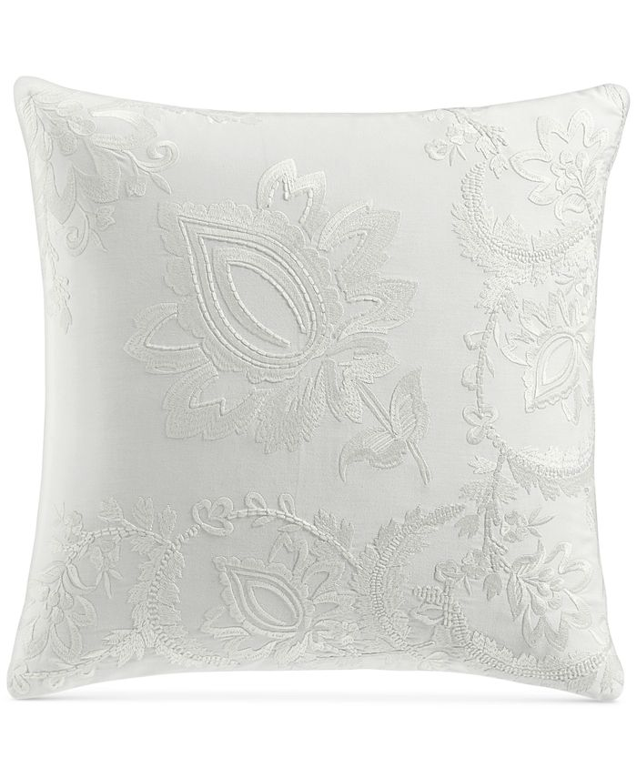 "Charter Club - Damask Designs Jacobean Embroidered 18"" Square Decorative Pillow"