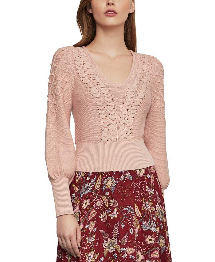 BCBGMAXAZRIA - Bishop-Sleeve Sweater