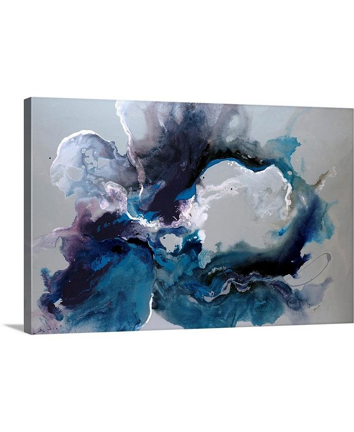 "GreatBigCanvas - 24 in. x 16 in. ""Cerulean waters"" by  Sydney Edmunds Canvas Wall Art"