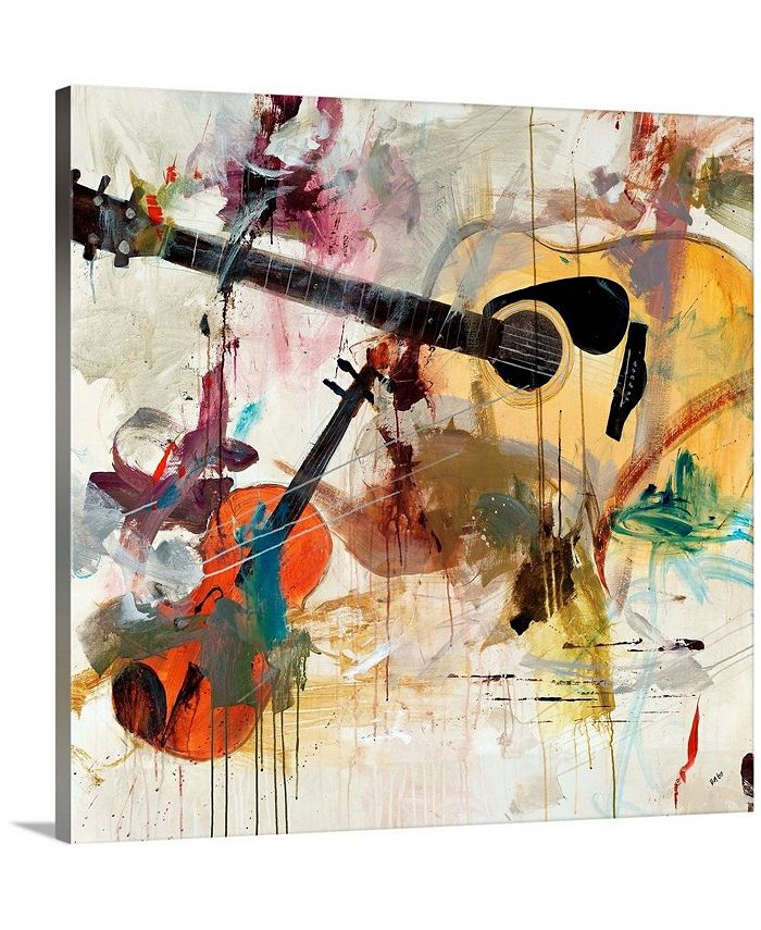 """GreatBigCanvas - 24 in. x 24 in. """"Fusion"""" by  Clayton Rabo Canvas Wall Art"""