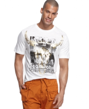 Sean John Big  Tall TShirt On The Range Short Sleeve Graphic TShirt