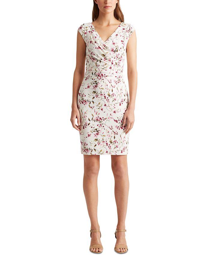 Lauren Ralph Lauren - Floral Jersey Surplice Dress