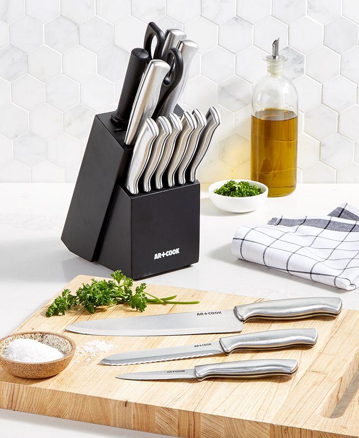 Art & Cook - 15-Pc. Knife Block Set