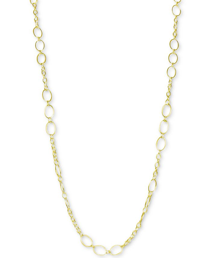 """Argento Vivo - Oval Link 36"""" Chain Necklace in 18k Gold-Plated Sterling Silver"""