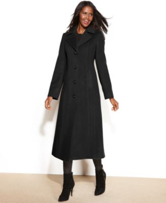 Anne Klein Petite Wool-Cashmere-Blend Maxi Walker Coat - Coats