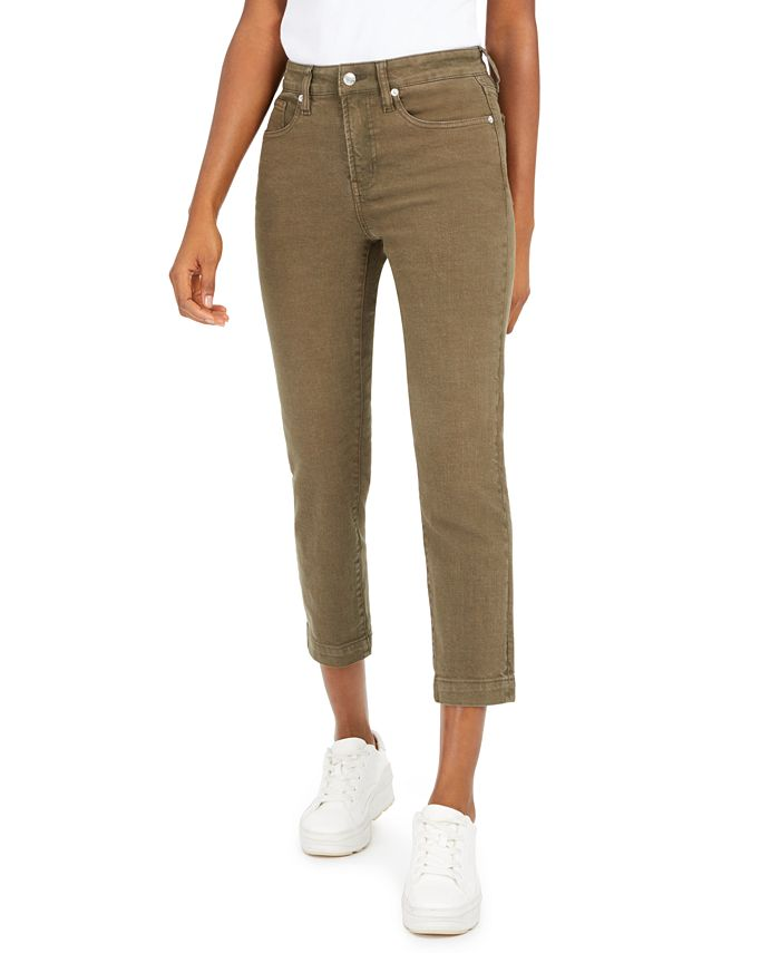OAT - High-Rise Cropped Straight-Leg Jeans