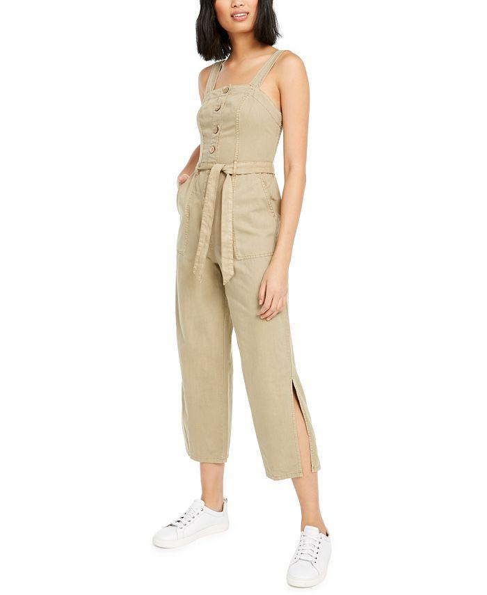 OAT - Smocked Sleeveless Cotton Jumpsuit