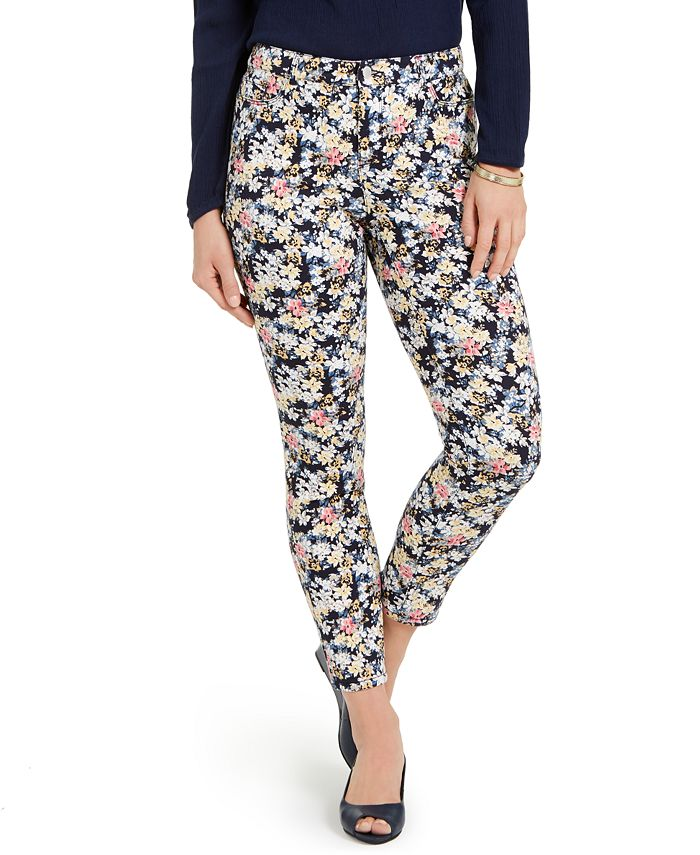 Charter Club - Petite Printed Tummy-Control Jeans, Created For Macy's