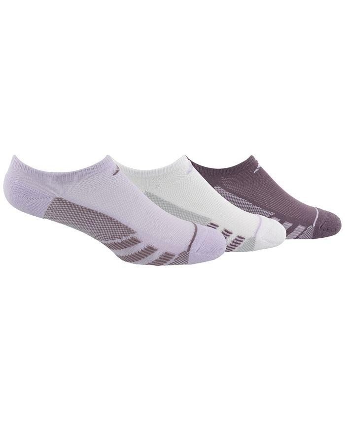 adidas - 3-Pk. Superlite Stripe No-Show Socks