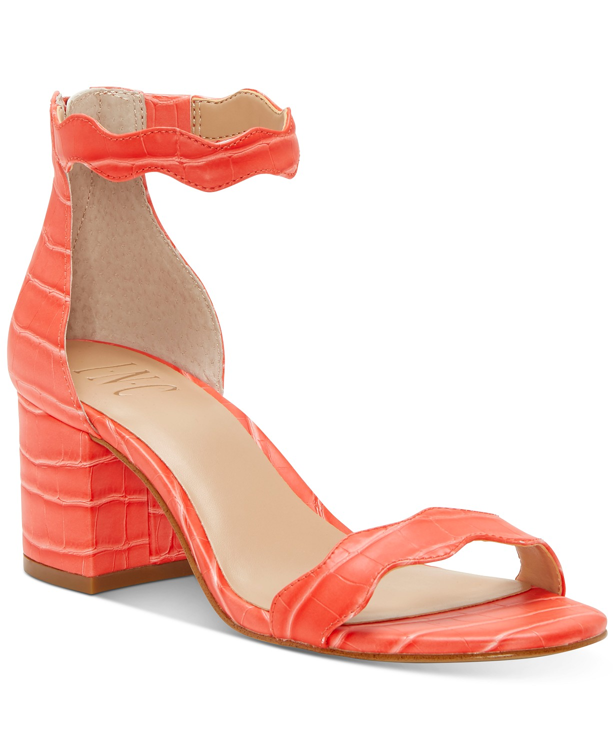 (81% OFF Deal) INC Women's Hadwin Scallop Two-Piece Sandals $14.96