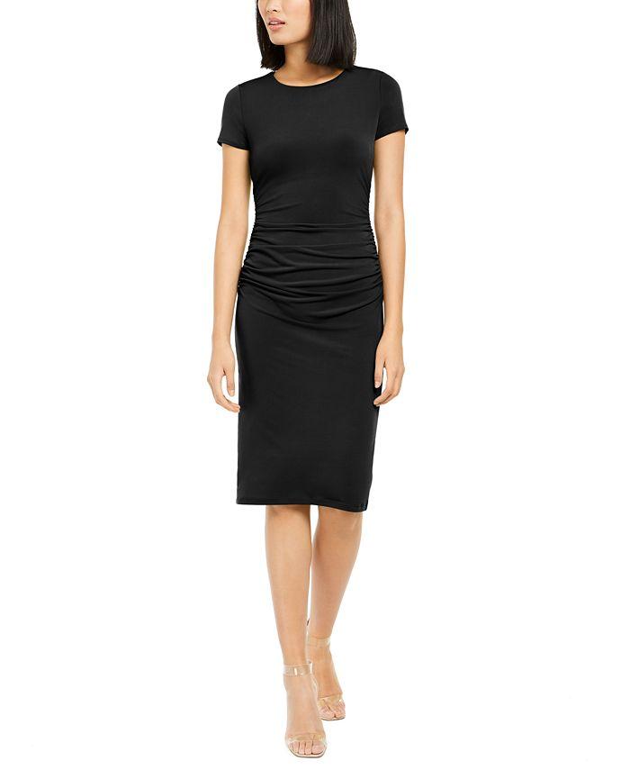 INC International Concepts - Ruched-Side Sheath Dress