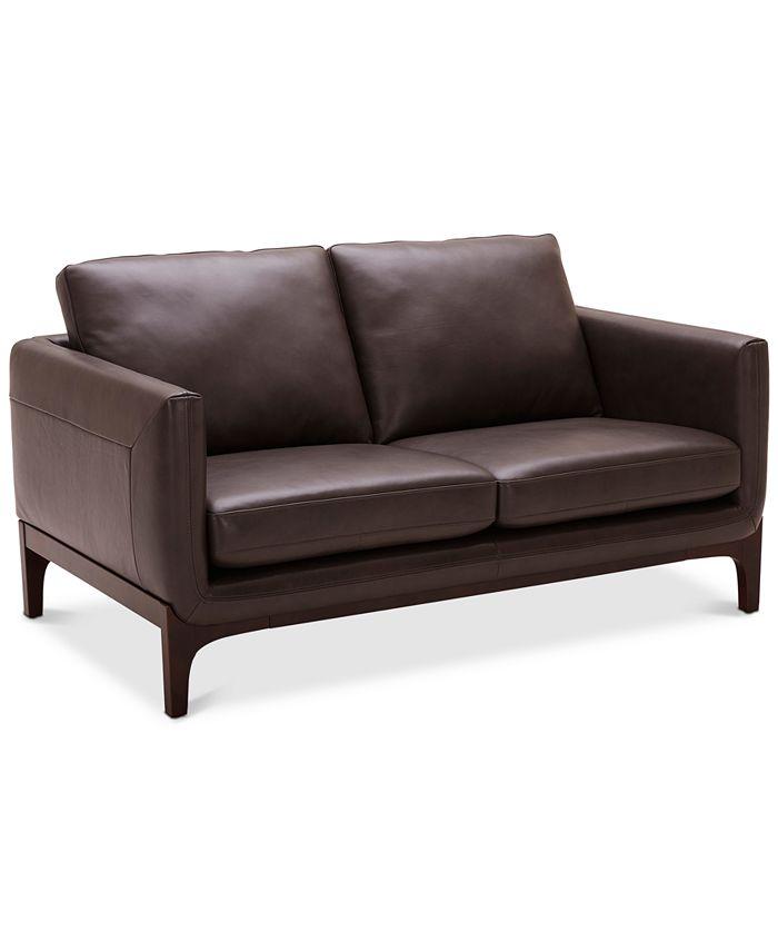"Furniture - Yazlan 62"" Leather Loveseat"
