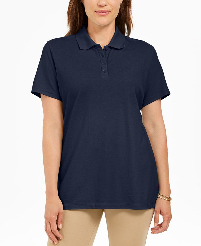 Karen Scott Cotton Polo Shirt, Created for Macy's & Reviews - Tops ...