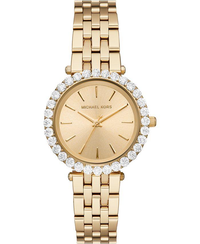 Michael Kors - Women's Darci Gold-Tone Stainless Steel Bracelet Watch 34mm