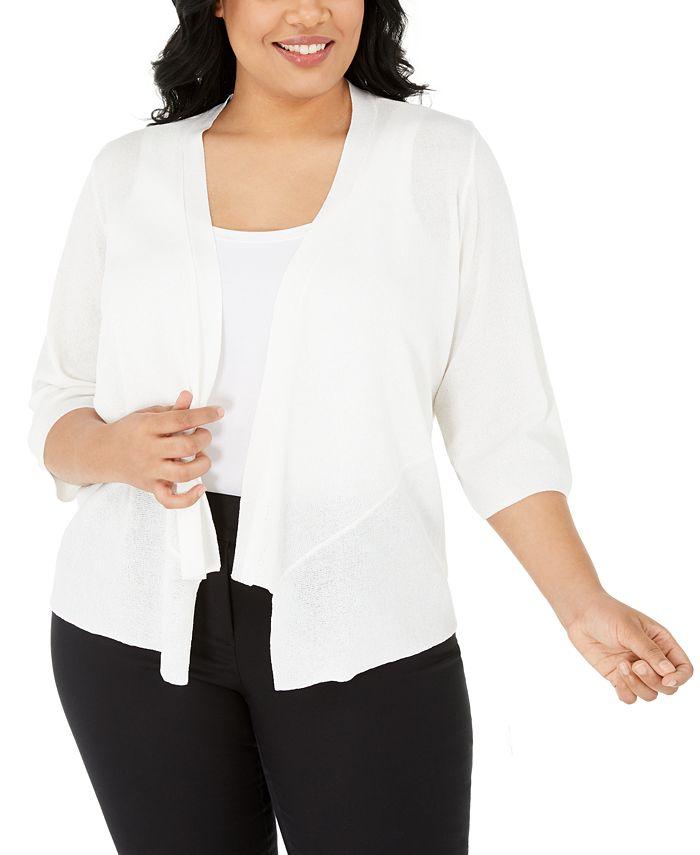 Alfani - Plus Size Drape-Front Cardigan