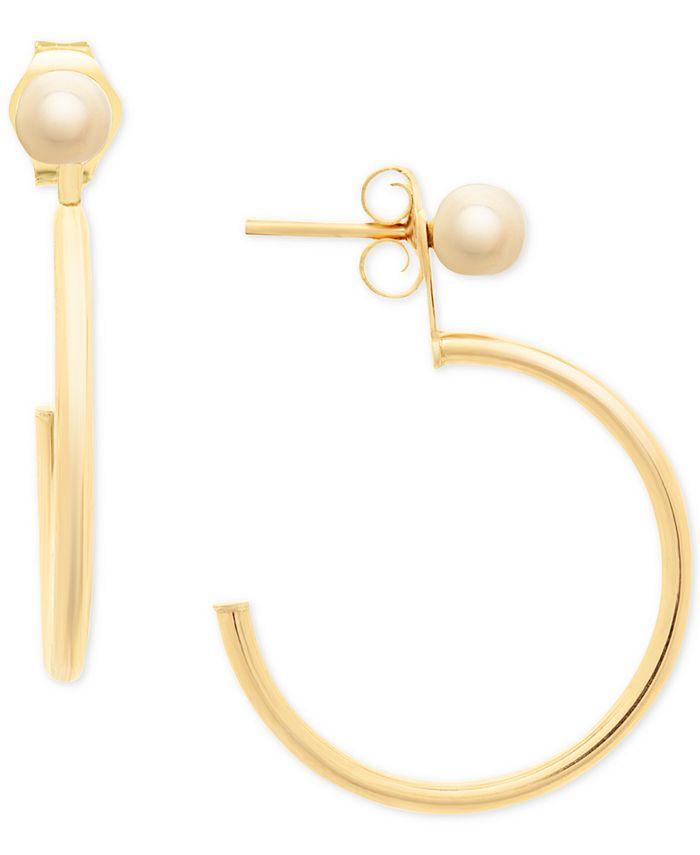Macy's - Hoop & Stud Front & Back Earrings in 14k Gold