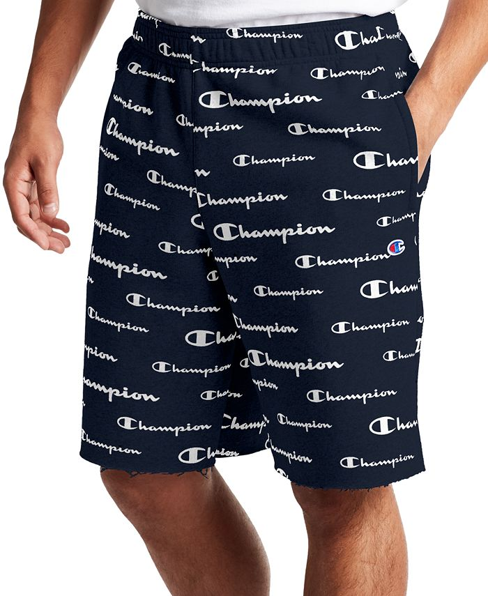 Champion - Men's Powerblend Logo-Print Shorts