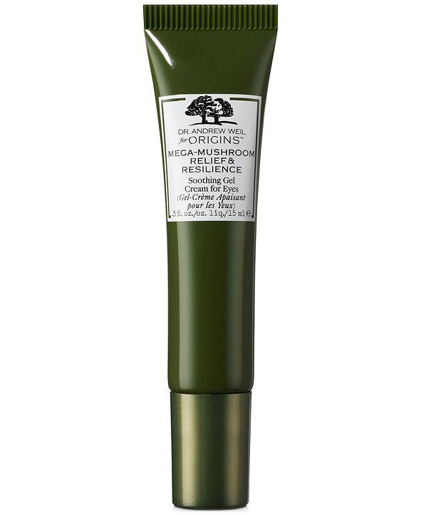 Origins Dr. Andrew Weil For Origins Mega-Mushroom Relief & Resilience Soothing Gel Cream For Eyes, 0.5-oz.