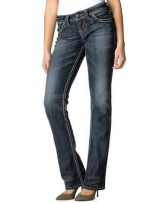 Silver Jeans Juniors Jeans, Suki Straight Leg, Dark Wash - Jeans ...