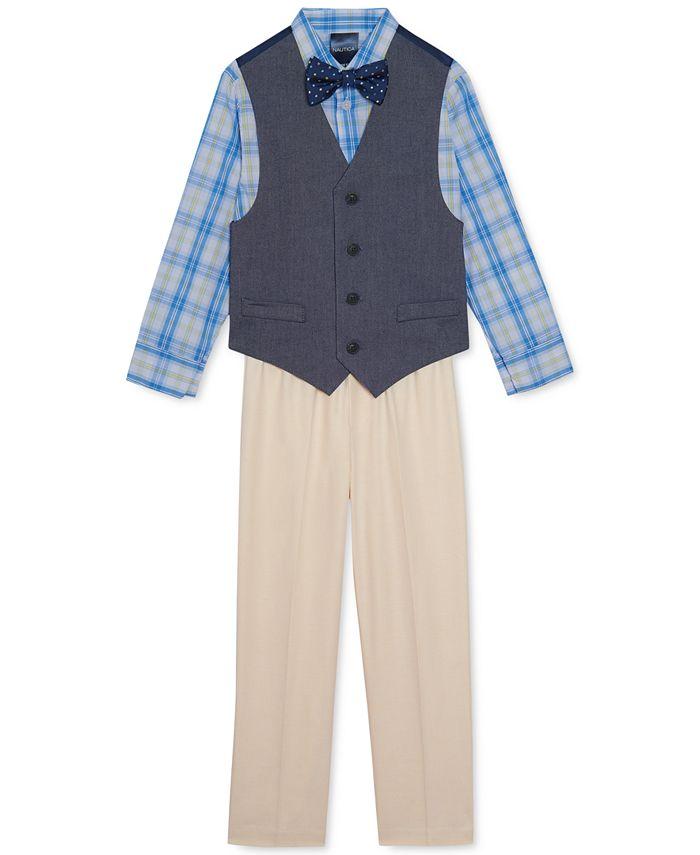 Nautica - Toddler Boys 4-Pc. Oxford Vest Set