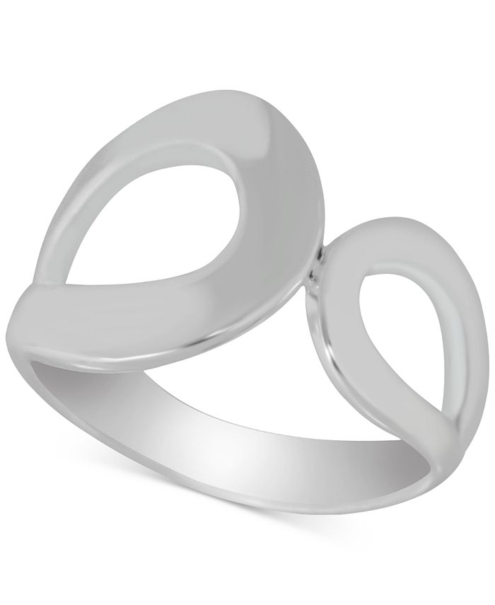 Essentials - Double Open Loop Ring in Fine Silver-Plate