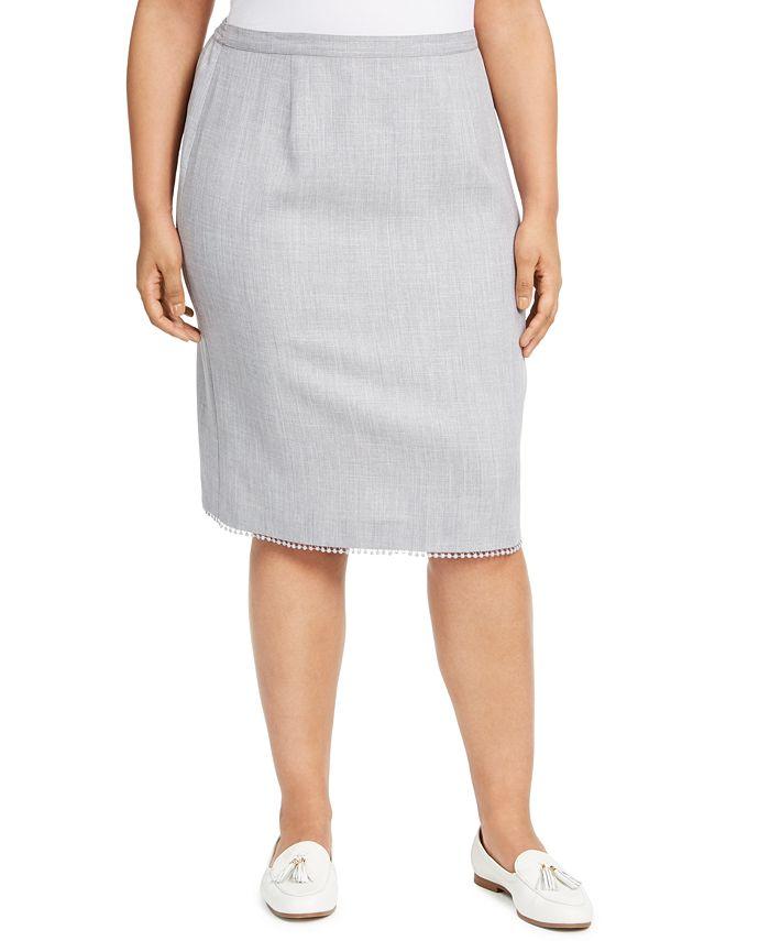 Alfred Dunner - Plus Size Primrose Garden Lace-Trim Skirt