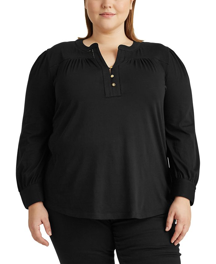 Lauren Ralph Lauren - Plus-Size Cotton Jersey Top