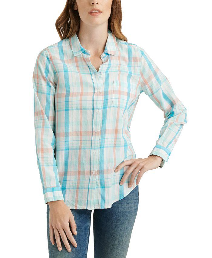 Lucky Brand - Classic One-Pocket Plaid Cotton Shirt