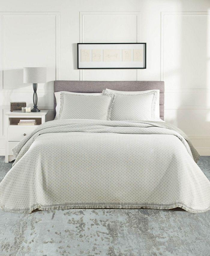 Nouvelle Home - Woven Jacquard Bedspread Set Twin White